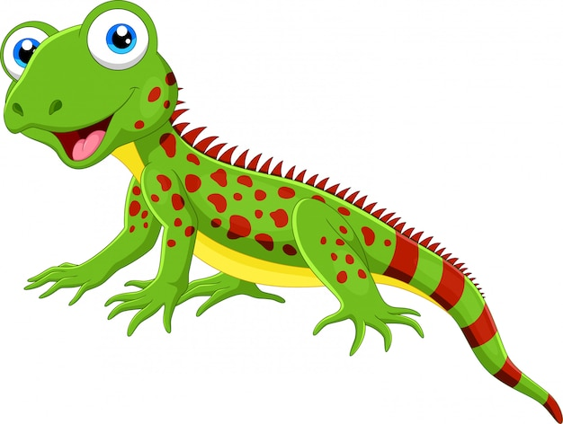 Cute lizard cartoon