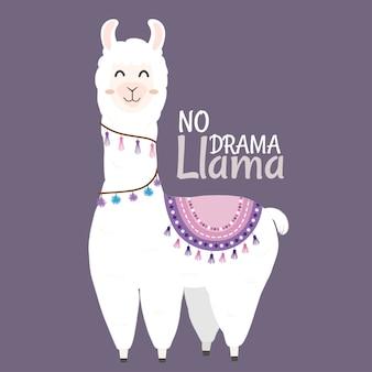 Cute llama design