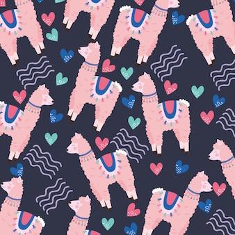 Cute llamas pattern