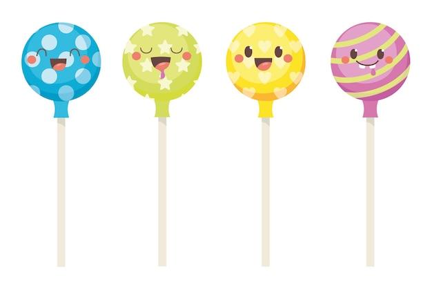 Cute lollipops set