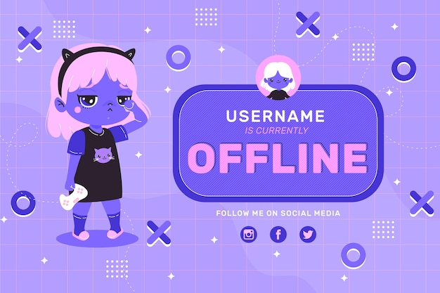 Cute looking banner for offline twitch platform