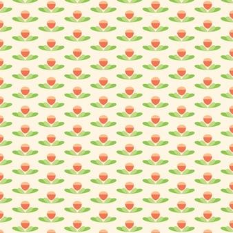 Симпатичный цветок лотоса шаблон