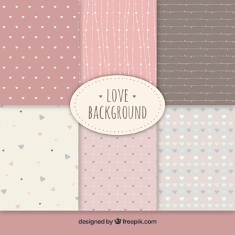 Cute love backgrounds collection