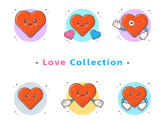 Cute love characters collection