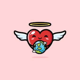 Милое сердце любви обнимает землю