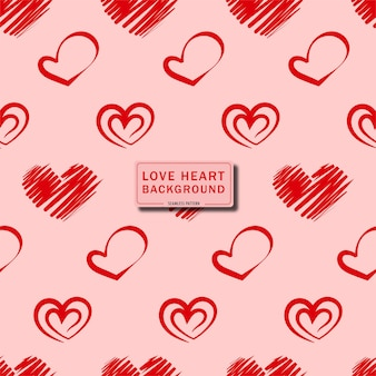 Cute love heart seamless pattern background
