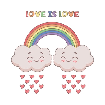 Cute  of the love is love expression
