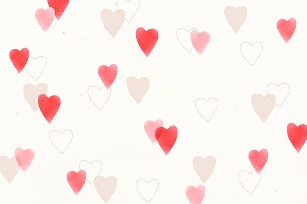 귀여운 사랑 패턴 배경