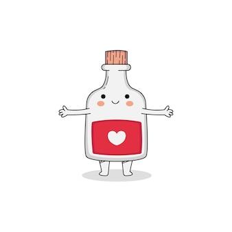 Cute love potion cartoon character