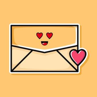 귀여운 사랑 이메일 만화 디자인
