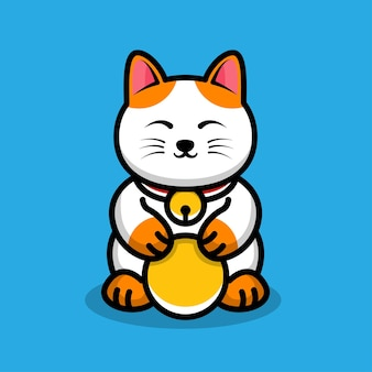 Симпатичные счастливые кошки иллюстрации шаржа