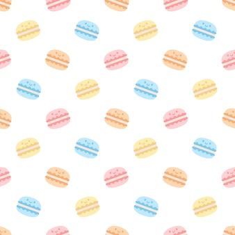 Cute macaron seamless   pattern