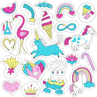 Cute magic patches set