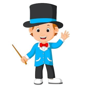 Cute magician cartoon