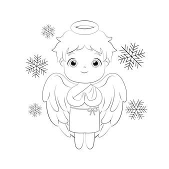 クリスマスの装飾のためのかわいい男性の天使
