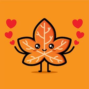 사랑이 가득한 귀여운 단풍잎 디자인