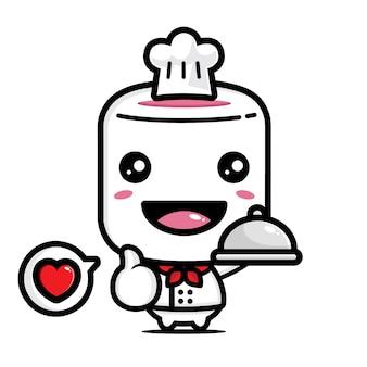 귀여운 마시멜로 요리사