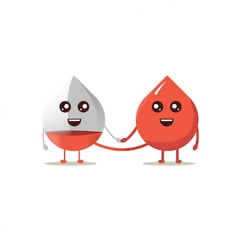 Cute mascot donor blood transfusion