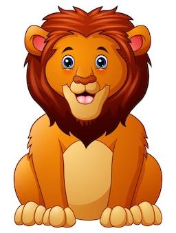 Cute maskot lion cartoon