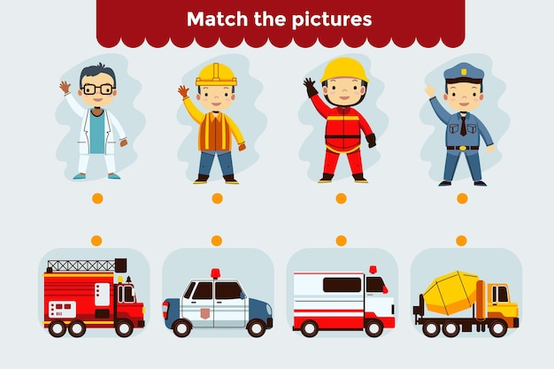 Cute match game for kids