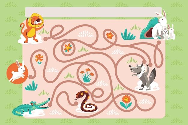 Labirinto carino per bambini