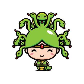 귀여운 메두사 캐릭터 디자인
