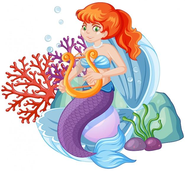 Personaggio dei cartoni animati carino sirena