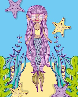 Cute mermaid cartoon