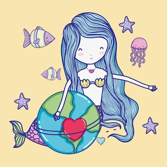Cute mermaid cartoons