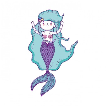 Cute mermaid fairy tales