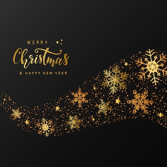 Cute merry christmas greeting card design