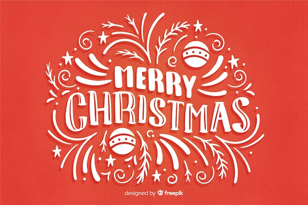 Cute merry christmas lettering