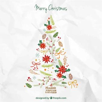 Cute merry christmas tree
