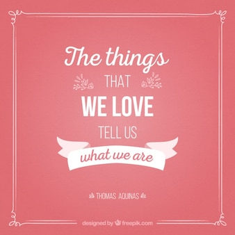 Cute message about the things we love