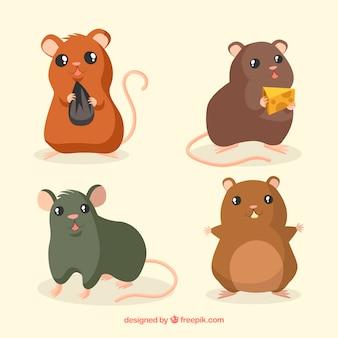 Cute mice breed set