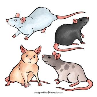 Набор милых мышей