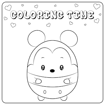 Cute micky mouse drawing for coloring