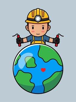 Милый шахтер и планета земля