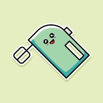 귀여운 믹서 만화 디자인