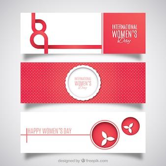 Cute modern women's day banners