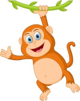 かわいい猿の漫画の木