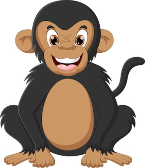 Милая обезьяна мультфильм