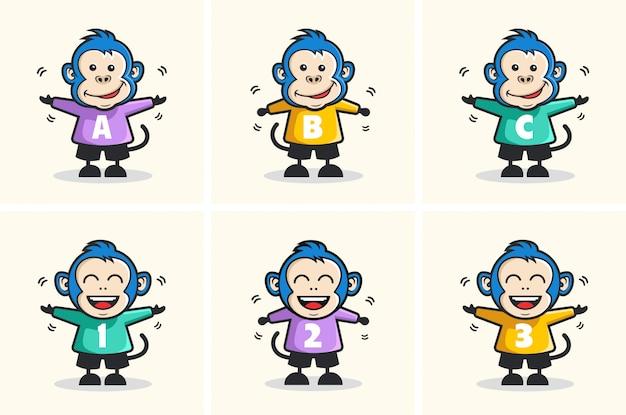 かわいい猿のキャラクター漫画