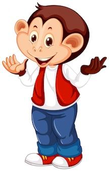 A cute monkey character