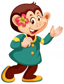 A cute monkey character