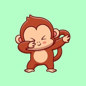 かわいい猿を軽くたたく