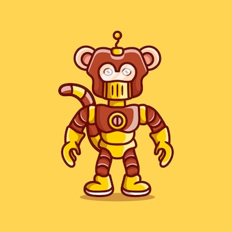 로봇 갑옷을 입은 귀여운 원숭이