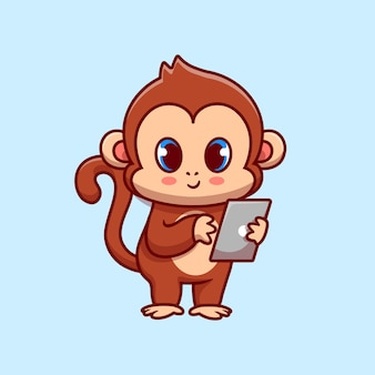 Cute monkey with gadget