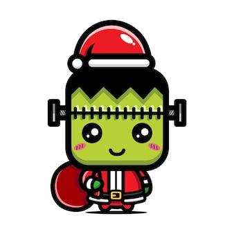 크리스마스를 축하하는 귀여운 괴물