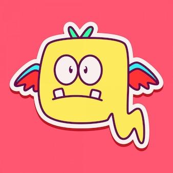 Симпатичный дизайн персонажей-монстров